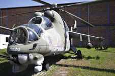 Free Russian Military Helicopter Stock Image - 19732881