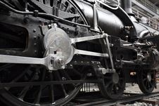 Detail Of Old Steam Locomotive Royalty Free Stock Image