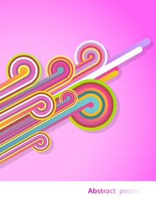 Free Abstract Lines With Pink Background. Royalty Free Stock Images - 19733049