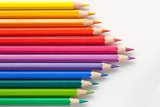 Free Colorful Pens On White Background Stock Photo - 19733550