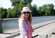 Free Happy Blond Woman With Cowboy S Hat Royalty Free Stock Photo - 19733595