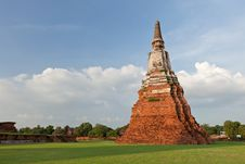 Free Thai Pagoda In Ayutthaya Royalty Free Stock Images - 19733649