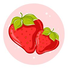 Free Strawberries On Pink Background Stock Image - 19733701