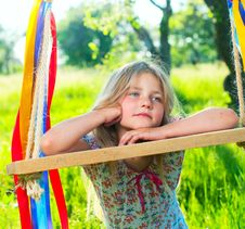 Free Young Girl On Swing Stock Images - 19735014