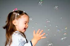 Free Little Girl With Bubbles Royalty Free Stock Images - 19735429