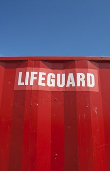 Lifeguard Sign Royalty Free Stock Images