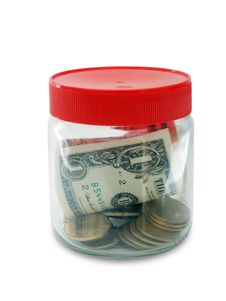 Free Money In Jar Stock Image - 19736621