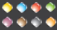 Free Eight Multi-colored Buttons Royalty Free Stock Photos - 19737638