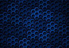Blue Hexagons Stock Image