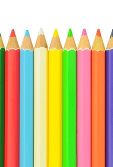 Free Vertical Color Pencil Stock Image - 19738611