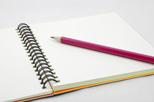 Free Red Pencil On Blank Page Of Note Book Stock Image - 19738631