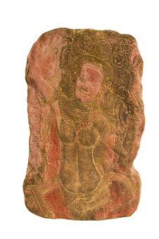 Free Sandstone Carvings Woman Dancsing Stock Photo - 19738700
