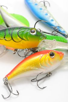 Free Fishing Lures (Wobblers) Royalty Free Stock Image - 19738846