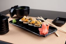 Japanese Table Place Setting With Roll Stock Images