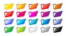Free File Folders Color Royalty Free Stock Photo - 19739425