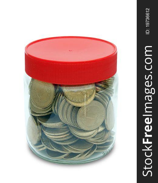 Coin in jar