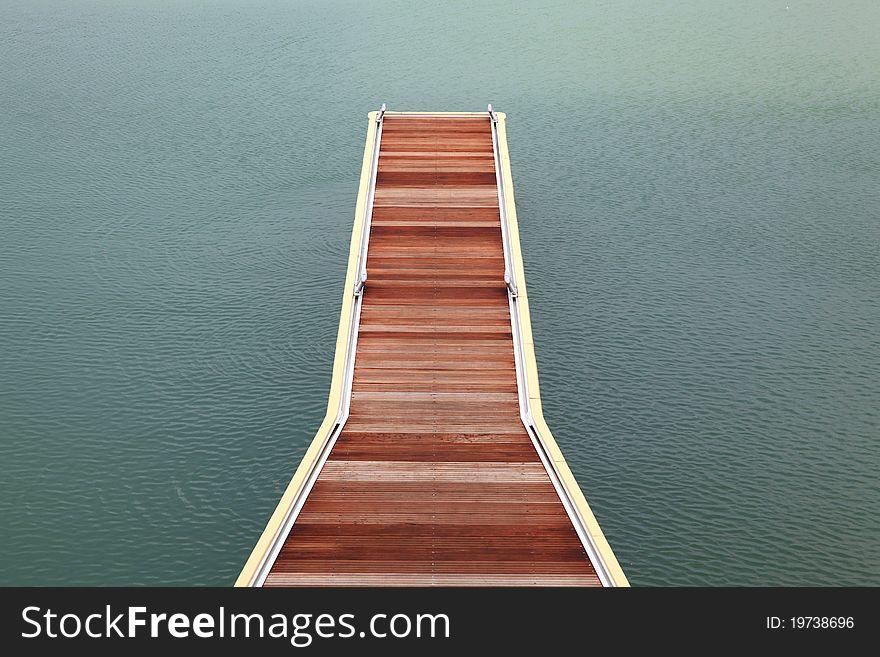 Wooden jetty walkway
