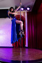 Free Stripper Girl Pole Dancing In Costume Stock Photo - 19740060