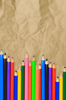 Free Set Of Color Pencils Stock Photography - 19740832