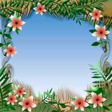 Free Tropical View Frame Royalty Free Stock Image - 19740876