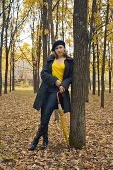 Katy In Autumn Park Stock Photography
