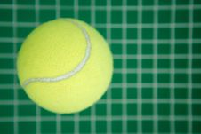 Free Tennis Ball On A Grid Stock Photo - 19743600