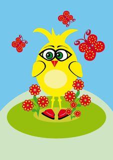 Free Small Cartoon Chicken Stock Photo - 19748910