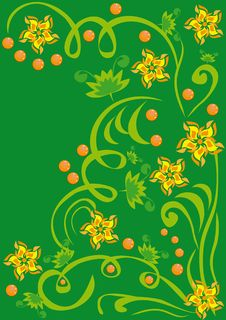 Free Abstract Floral Ornament Royalty Free Stock Images - 19748969