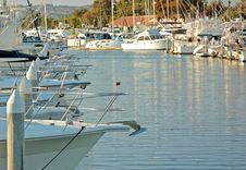 Free Watercraft Docked At A Marina Royalty Free Stock Images - 19749019
