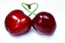 Free Fresh Cherries Royalty Free Stock Images - 19749489