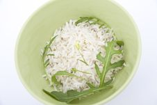 Free Rice With Green Tarragon Leaves Royalty Free Stock Photography - 19749587
