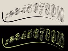 Free Abstract Numbers Stock Image - 19749941