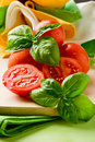 Free Tomatoes And Basil Royalty Free Stock Photo - 19751495