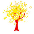 Free Chinese Flag Tree Royalty Free Stock Photography - 19752987