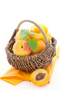 Free Apricots In A Basket Stock Photography - 19756282