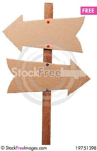 Cardboard sign Stock Photo