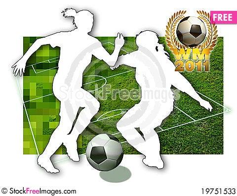 Soccer girls Stock Photo