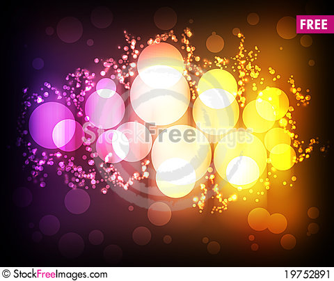 Abstract background with glowing circles Stock Photo