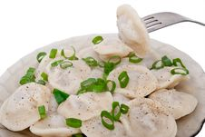 Dumplings On A Plate Royalty Free Stock Photography