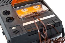 Free Magnetic Audio Tape Cassette Recorder Stock Image - 19751171
