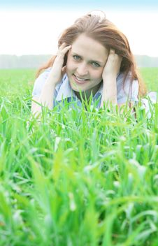 Free Girl On Grass Stock Photo - 19751210