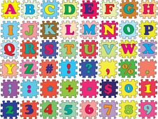 Free ABC Vector Puzzle Color Royalty Free Stock Photos - 19751258