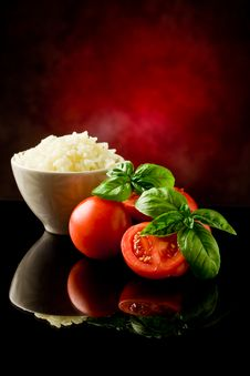 Rice And Tomatoes Royalty Free Stock Photography