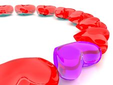 Free Transparent Purple&red Heart Royalty Free Stock Photography - 19752057