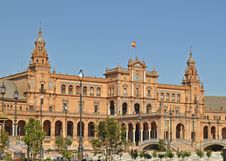 Free A  View Of The Plaza De Espana In Seville Spain Royalty Free Stock Photography - 19752207