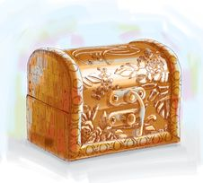 Free Hand Drawn Treasure Chest Stock Photo - 19752320