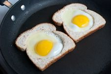 Free Fried Eggs And Toast Stock Image - 19752451