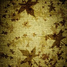 Free Grunge Leaves On Canvas Stock Image - 19752601
