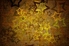 Free Grunge Stars On Canvas Royalty Free Stock Photo - 19752625