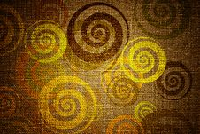 Free Grunge Swirls On Canvas Royalty Free Stock Photography - 19752637